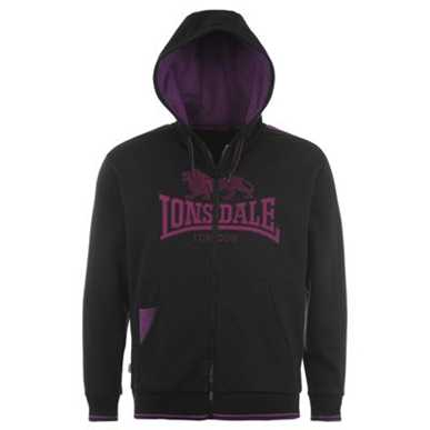 Купить Lonsdale 2 Stripe Hooded Zip Top Mens  за рублей