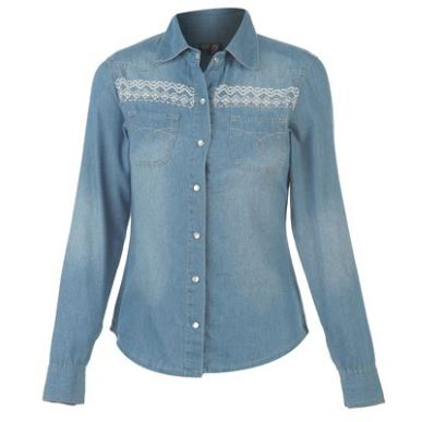 Купить Voodoo Dolls Denim Shirt Ladies  за рублей
