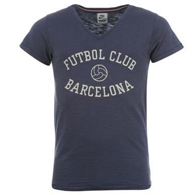 Купить Nike FC Barcelona Vintgage V Neck T Shirt Mens  за рублей