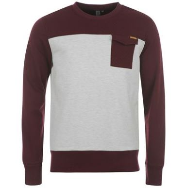 Купить Firetrap Panel Crew Neck Sweatshirt Mens  за рублей