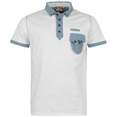 Купить Lee Cooper Chambray Trim Polo Shirt Mens  за рублей