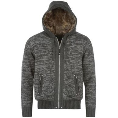 Купить Airwalk Fur Lined Full Zip Knit Hoody Mens  за рублей