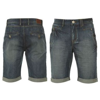 Купить Firetrap Denim Turn Up Shorts Mens  за рублей