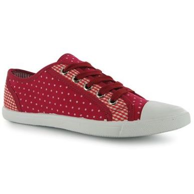 Купить Miss Fiori Spot Check Lace Up Canvas Shoes Ladies  за рублей
