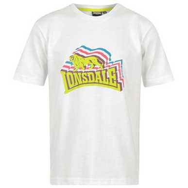 Купить Lonsdale Stacked Logo T Shirt Junior  за рублей