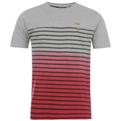 Купить Lee Cooper Dip Dye Stripe T Shirt Mens  за рублей