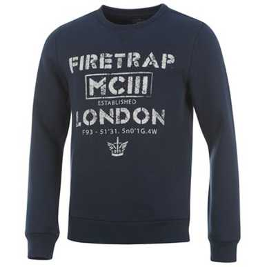 Купить Firetrap Printed Crew Neck Top Mens 2200.00 за рублей