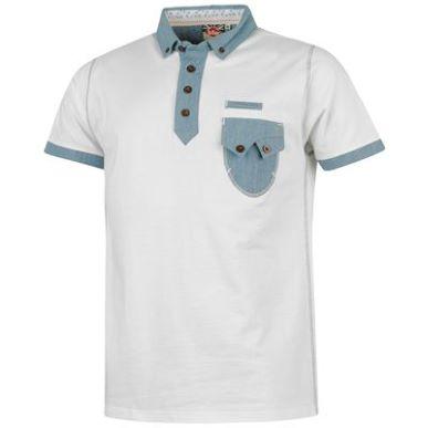 Купить Lee Cooper Chambray Trim Polo Shirt Mens 1750.00 за рублей