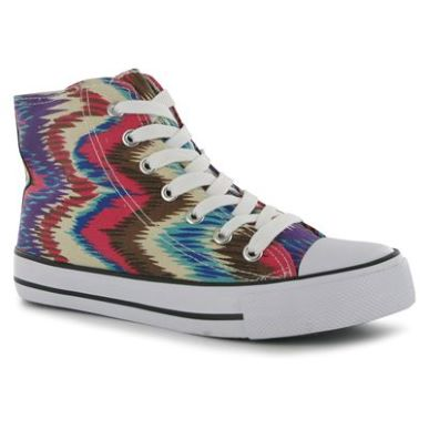 Купить Miss Fiori Print Ladies Hi Top Canvas Shoes  за рублей
