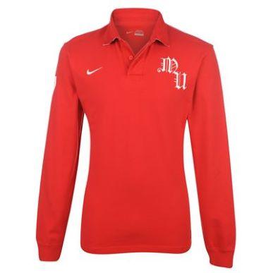Купить Nike Manchester United Long Sleeve Polo Mens  за рублей