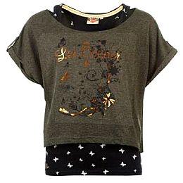 Купить Lee Cooper Print Double Layer T Shirt Ladies 1750.00 за рублей