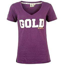 Купить Golddigga Glitter V Neck T Shirt Ladies 1650.00 за рублей