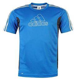 Купить adidas ClimaLite Large Logo T Shirt Mens 2250.00 за рублей
