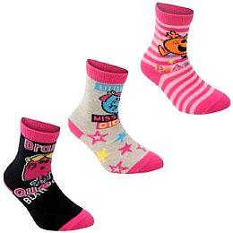 Купить Little Miss Miss 3 Pack Socks Childrens 650.00 за рублей