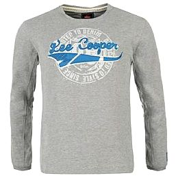Купить Lee Cooper Large Logo Long Sleeve T Shirt Mens 800.00 за рублей