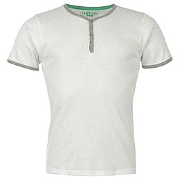 Купить Giorgio Ribbed Y Neck T Shirt Mens 800.00 за рублей