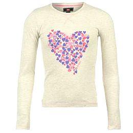 Купить Lee Cooper Long Sleeved Heart Print Top Girls 800.00 за рублей