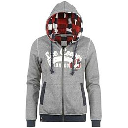 Купить Lee Cooper Fleece Flannel Lined Zipped Hoody Ladies 2000.00 за рублей