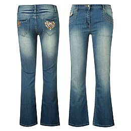 Купить Voodoo Dolls Embroidered Bootcut Jeans Girls 800.00 за рублей