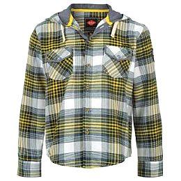 Купить Lee Cooper Hooded Flannel Shirt Junior 1800.00 за рублей