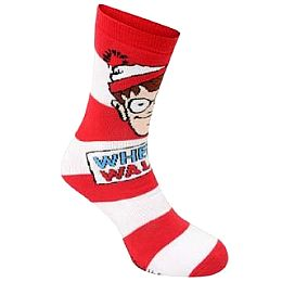 Купить Wheres Wally 1 Pack Slipper Socks Kids 600.00 за рублей