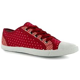 Купить Miss Fiori Spot Check Lace Up Canvas Shoes Ladies 1650.00 за рублей