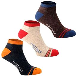 Купить Firetrap 3 Pack Trainer Socks Mens 800.00 за рублей