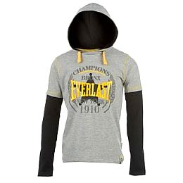 Купить Everlast Long Sleeve Mock Layer Hooded T Shirt Junior 800.00 за рублей