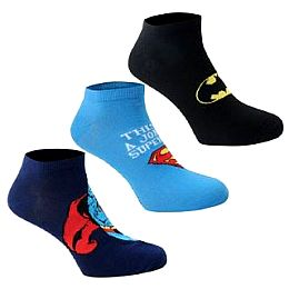 Купить DC Comics 3 Pack Trainer Socks Mens 650.00 за рублей