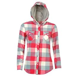 Купить Lee Cooper Hooded Flannel Shirt Ladies 1900.00 за рублей