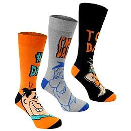 Купить Looney Tunes 3 Pack Socks Mens 700.00 за рублей