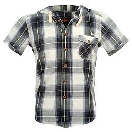Купить Lee Cooper Short Sleeved Hooded Check Shirt Junior 1650.00 за рублей