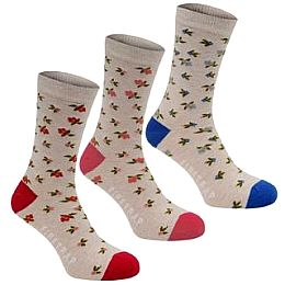 Купить Firetrap 3 Pack Dress Socks Ladies 1600.00 за рублей
