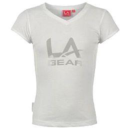 Купить LA Gear Large Logo V Neck T Shirt Girls 700.00 за рублей