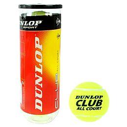 Купить Dunlop Club All Court 3 Ball Tube 650.00 за рублей