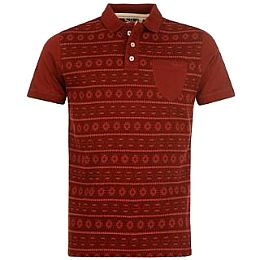 Купить Lee Cooper Aztec All Over Print Polo Shirt Mens 1750.00 за рублей