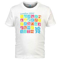 Купить 2012 London Pictogram T Shirt Junior 700.00 за рублей