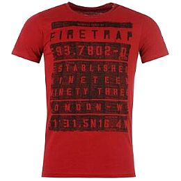 Купить Firetrap Billboard T Shirt Mens 1600.00 за рублей